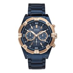 A collection of Iconic signature combinations inspired by the GUESS lifestyle. Trendy fashion-forward designs from GUESS Watches offer dynamic styling. Cool Watches, Watches For Men, Guess Watches, Men's Watches, Men's Jewelry Rings, Jewelry Watches, Jewelry Box, Jewellery, Stainless Steel Watch