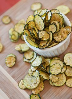 Baked zucchini chips!