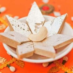Kaju Katli(kaju Ki Barfi) recipe by Bindiya Sharma at BetterButter Indian Dessert Recipes, Indian Sweets, Sweets Recipes, Fun Desserts, Kaju Katli, Gajar Ka Halwa, Diwali Food, Clarified Butter Ghee, Non Stick Pan