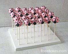 How to Make a Homemade Cake Pop Stand - Rose Bakes Pink Ladybug Party, Ladybug Cake Pops, Ladybug Girl, Homemade Cake Stands, Homemade Cakes, Cakepops, Cars Theme Cake, Cake Pop Holder, Giant Cupcakes