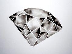 Diamond tattoo design