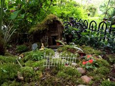 This is one of the fairy gardens in my yard :)