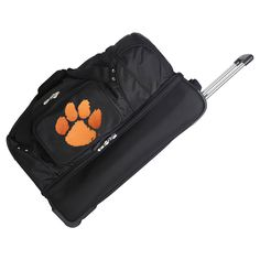 NCAA Clemson Tigers 27'' Rolling Drop Bottom Duffel