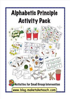 Alphabetic Principle Activity Pack product from Make-Take-Teach on TeachersNotebook.com
