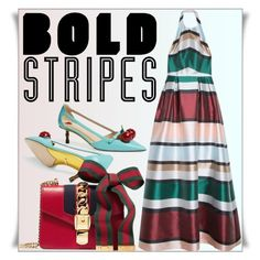 """Big, Bold Stripes"" by lucky-ruby ❤ liked on Polyvore featuring Gucci, Elie Saab and BoldStripes"