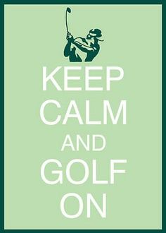 Golf party poster