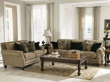 MIDDLETON-TRADITIONAL TAN CHENILLE SOFA COUCH LOVESEAT SET LIVING ROOM FURNITURE$1600 free shipping