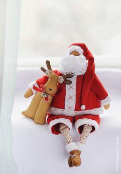 Санта с оленем
