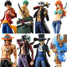 14.95$  Watch here - MegaHouse Variable Action Heroes One Piece Luffy Ace Zoro Sabo Law Nami Dracule Mihawk PVC Action Figure Collectible Model Toy  #SHOPPING