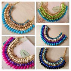 Beaded Jewelry Designs, Necklace Designs, Handmade Jewelry, Thread Jewellery, Fabric Jewelry, Diy Jewelry Rings, Jewelry Crafts, Maxi Collar, Silk Bangles