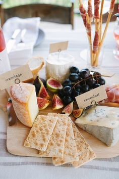 Wine and Cheese Tasting | Photos by Wynn Myers for Camille Styles So cute with the hand made cheese cards.