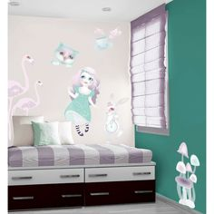 Alice In Wonderland Wall Decals, PVC Free Wall Stickers Of Alice In  Wonderland   Large Or Medium