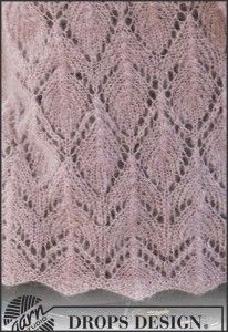 Knitted DROPS shawl with lace pattern in Vivaldi. Free pattern by DROPS Design. Baby Knitting Free, Easy Knitting, Knitting Patterns Free, Knit Patterns, Free Pattern, Drops Design, Knitting Stiches, Knitted Shawls, Knit Crochet