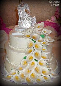 Calla Lily Wedding Cake by Samantha's Sweets  www.samantha-sweets.com