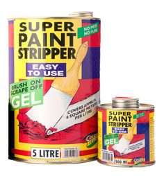 Super paint stripper is a scrape off gel covering approximately six square meters per litre can be applied on wood metal and stone surfaces Paint Stripper, Varnishes, Wood And Metal, Acrylics, How To Apply, Canning, Stone, Cover, Easy