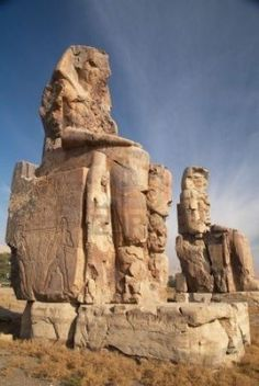 One of the main attractions on the West Bank of Luxor, a landmark which everyone passes on the road to the monument area, is two gigantic statues known as the Colossi of Memnon.