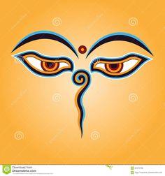 Buddha eyes vector image on VectorStock Buddha Eyes, Buddha Art, Buddhist Symbols, Sacred Symbols, Buddha Tattoos, Body Art Tattoos, Tibetan Mandala, Buddhist Architecture, Eye Illustration