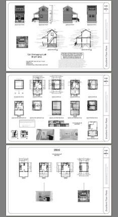 12x12 Tiny House 12x12h2 260 Sq Ft Excellent Floor Plans Floor Plans Diy Shed Plans Shed Plans