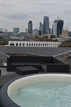 Hot tub oasis in London city centre