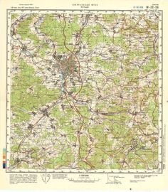 Russian Soviet Military Topographic Maps - FULDA (Germany), 1:100 000, ed. 1987
