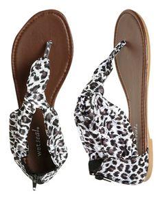Animal Print Sandal - Sandals. Love