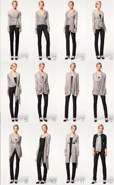 A single sweater, 12 ways | Unclutterer I probably should save up and look into a quality piece like this.