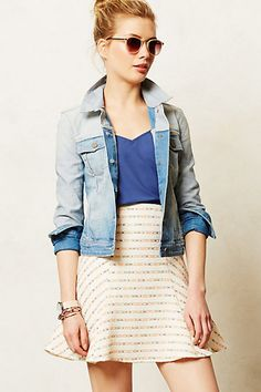 Paige Colorblock Denim Jacket - anthropologie.com  denim jackets usually bore me, but this is gorgeous