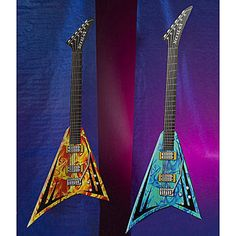 Rock Star Giant Guitars feature two larger than life Flying V® guitars in vibrant orange and blue. Each of the cardboard giant guitars measure 9 feet high x 3 feet 4 inches wide. Guitar Decorations, 80s Party Decorations, Party Props, Party Themes, Wedding Decorations, Party Ideas, Star Theme Party, 80s Theme, Music Themed Parties