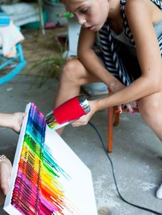 Crayola Canvas DIY ... How Fun does this look! Next Art Project with my little one