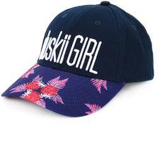Duskii Girl floral logo cap