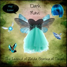 """""""Dark Navi, The Legend of Zelda: Ocarina of Time"""" by christy-church on Polyvore - The perfect compliment to a Dark Link costume!"""