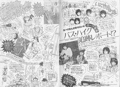 月刊ぶ~け 1980年8月号 534-535頁「ぶ~けまんが家サロン」バス・ハイク追跡レポート!?内田クンも参加しているのだわwレポートイラストを描いているのは松苗あけみセンセ。さて、内田クンはどこにいるでしょう?これまでバス旅行やパーティーレポもあったけど、参加リストに内田クンが入っているのは初めてかもなんだわ。