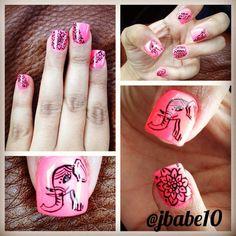 Henna elephant nails