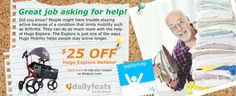 Help is on the way! Save $25 on Hugo Mobility Explore Rollator Walker   http://www.hugoanywhere.com/dailyfeats/askforhelp/