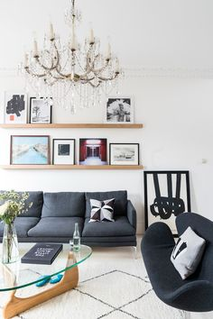 White living room ideas: 25 schemes and ideas for a chic white living room | Livingetc Living Room White, White Rooms, Small Living Rooms, Living Room Modern, Living Room Designs, White Walls, Chandelier In Living Room, Living Room Lighting, Living Room Decor