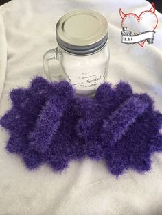 I was beyond excited when Red Heart sent me new summer yarn to review and create with! This time is was their new Scrubby Sparkle Yarn in Grape! You can find the Scrubby Sparkle yarn HE…