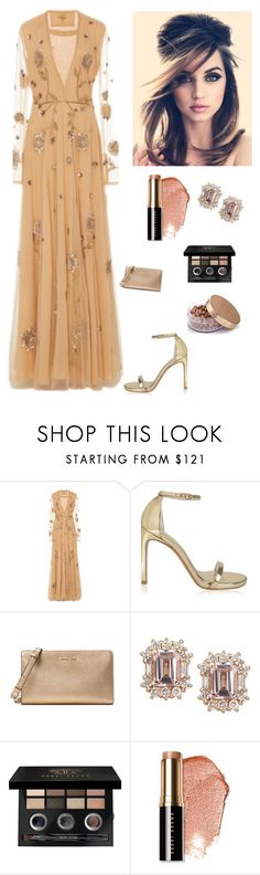"""Marchesa fall/winter"" by kotnourka ❤ liked on Polyvore featuring Stuart Weitzman, Retrò, MICHAEL Michael Kors and Bobbi Brown Cosmetics"
