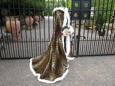 Leopard Bridal Cape ❤ DiamondB! Pinned ❤