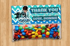 Personalized Max Steel Goody Bag Toppers by thePARTYBOTS on Etsy, $7.00
