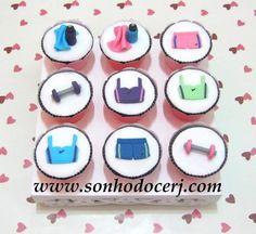 Cupcakes Ginástica / Academia! curta nossa página no Facebook: www.facebook.com/sonhodocerj