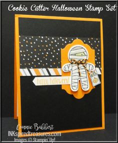 I used Cookie Cutter Halloween stamp set for the Create with Connie and Mary sketch challenge this week!  LOVE this little mummy!  Stampin' Up!, #stampinup, #halloween, created by Connie Babbert, www.inkspiredtreasures.com