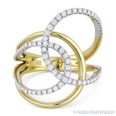 0-49-ct-Round-Cut-Diamond-Right-Hand-překryv-Loop-Wrap-Ring-in-14k-žluto-zlato