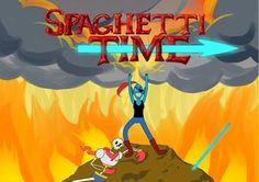 hora de espagueti llego coge tus ingredientes y vamonos con papyrus el esqueleto y undyne la...pez... :V vamonos ya hora de espagueti