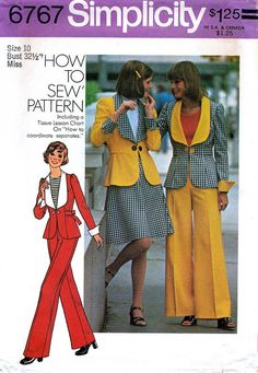 Mod Jacket, Jacket Buttons, 70s Fashion, Vintage Fashion, Fashion Outfits, Vintage 70s, Vintage Style, Vintage Sewing Patterns, Clothing Patterns