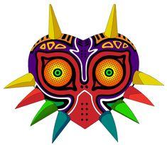 Majora's Mask by RevPixy on DeviantArt Majora Mask, Zelda Birthday, Zelda Tattoo, Link Cosplay, Mask Drawing, Mask Painting, Mask Tattoo, Video Game Art, Art Sketchbook