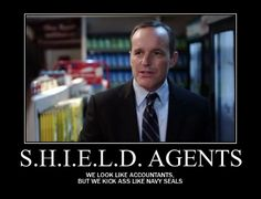 Marvel: Agents of S.H.I.E.L.D. - Agent Phil Coulson. Click the link and read his answers to fans' questions. I guarantee it will make your day better.