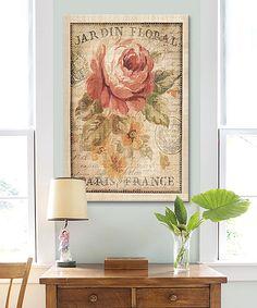 Danhui Nai Parisian Flowers II Wrapped Canvas   zulily