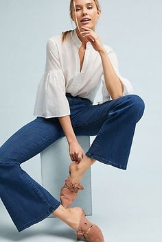 Pilcro High-Rise Flare Jeans