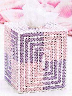 COLOR BLOCKS Tissue Topper Plastic Canvas PATTERN by M2Hawk