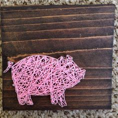 Mini string Pig 5.5 x 5.5 by nidification on Etsy